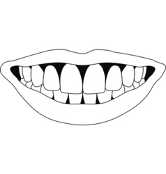 perfect smile teeth vector image