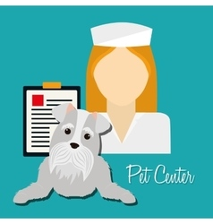 Pet care center service icons vector