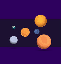 planet set outer space vector image