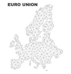 Polygonal mesh euro union map vector