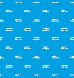 power tool drill pattern seamless blue vector image