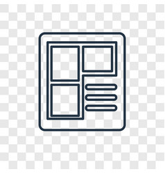 print concept linear icon isolated on transparent vector image