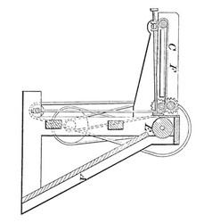 Printing press feeder vintage vector