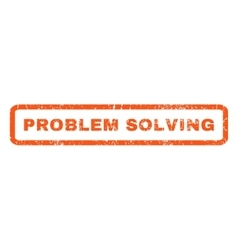 Problem Solving Rubber Stamp vector