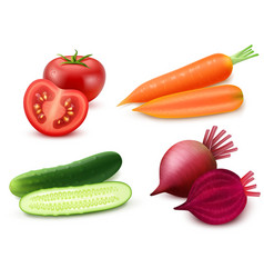 Realistic Vegetables Set vector image