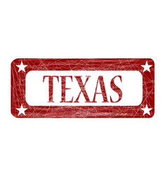 Red ink stamp texas vector