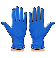 Rubber gloves isolated design vector
