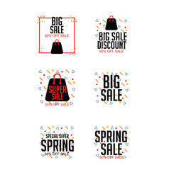 Sale logo set template design vector