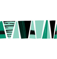 seamless border abstract black teal green vector image