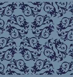 seamless luxury ornamental background damask vector image
