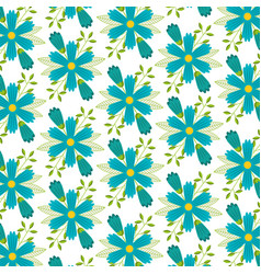 seamless pattern decorative floral flowers vector image