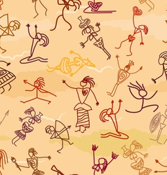 Seamless pattern with the image of the people vector image