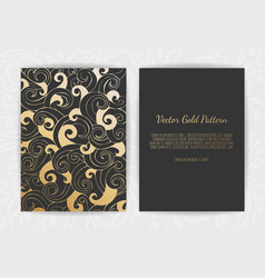 Set of black and gold design templates for vector