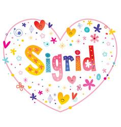 Sigrid girls name vector