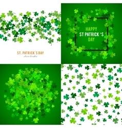 St Patricks Day background set vector