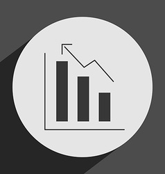 statistics icon vector image