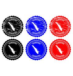 Sumatra rubber stamp vector