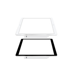 Tablet computers isolated vector