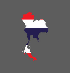 Thailand flag and map vector