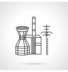 Thermal power plant icon vector
