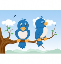 two birds vector image
