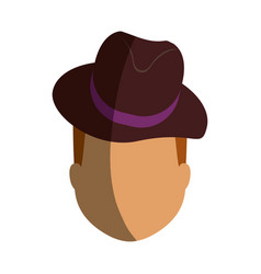 vintage male hat vector image