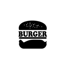 vintage retro burger logo design inspiration vector image