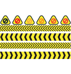 warning icons vector image