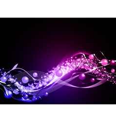 wavy glowing abstract neon background vector image