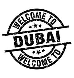 welcome to dubai black stamp vector image