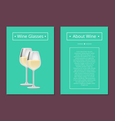 Wine gasses poster place text headline about wine vector