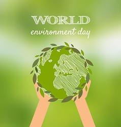 World environmental day design vector