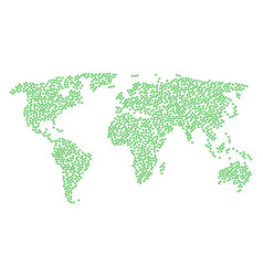 World map mosaic of cannabis icons vector