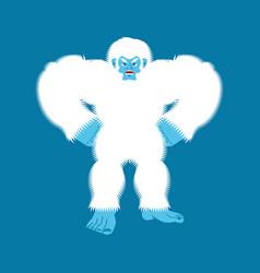 yeti angry bigfoot evil abominable snowman vector image
