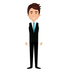 Young male cartoon design vector image