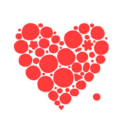abstract red heart shape sketch for your design vector image