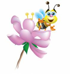 bee and blossom vector image