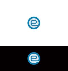 e logo vector image