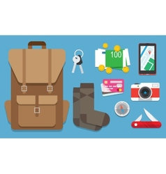 icons set travel vector image vector image