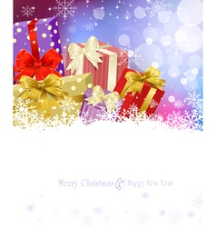New Years Eve Christmas background vector image