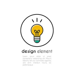 outline icon of electric lamp vector image