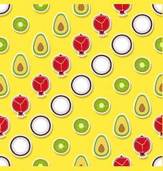 seamless pattern with fruit icons vector image