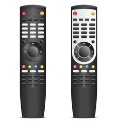 Black remote control vector image vector image