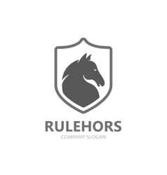 horse logo template vector image vector image