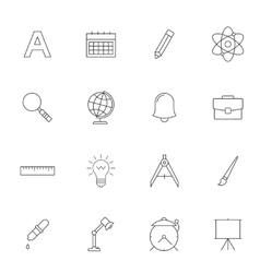 School education outline icons vector image vector image