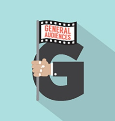 General Audiences Symbol-American Film Rating vector image vector image