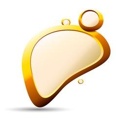 golden pebble background vector image vector image