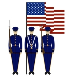Honor guard in the united states-1 vector