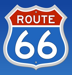 route 66 road sign vector image vector image