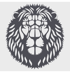 Symbol head of the lion vector image vector image